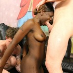 Amateur Black Slut Kay Love Is Brutally Throat Fucked By Two White Guys